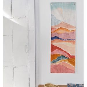 Urban Outfitters Painted Landscape Print Tapestry